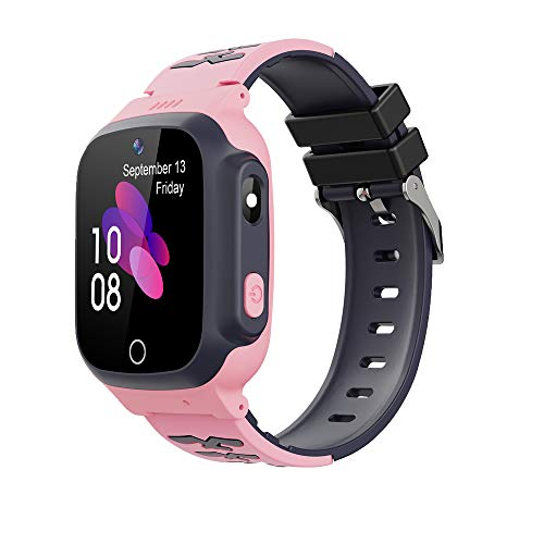 Photo of Kids Smart Watch Phone, Zeerkeer LBS Tracker Waterproof Children Smartwatch with SOS Call Camera Touch Screen Game Flashlight for Childrens Gift Compatible for iOS and Android (pink)