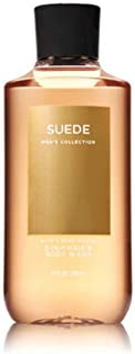 Bath and Body Works Suede Men's Collection 2-IN-1 Hair and Body Wash 10 Ounce Shower Gel - coolthings.us