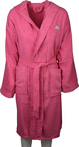 Kappa Bademantel aus weichem Frottee aus Reiner Baumwolle für Herren oder Damen einfarbig Ideal für Sport. XX-Large Rosa