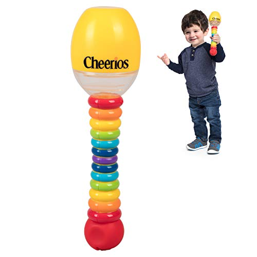 Cheerios Maraca Shake 'N Snack Baby Snack Food Container- Toddler Spill Proof Feeding Dispenser- BPA Free, PVC Free, Dishwasher Safe