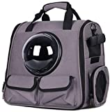 Plegable astronauta viajes Transporte hombro llevar la cápsula del bolso del totalizador del gato del perro Mochila bolsa del animal doméstico de tres colores (A) _38 * 26 * 38 cm ANGANG (color, tres