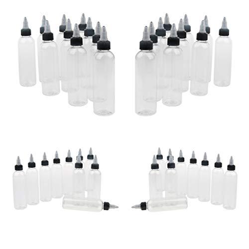 Hellery 40 Unidades Suave Botella de Dispensador Exprimible Bote de Pulverizacion para Disolventes 120ML