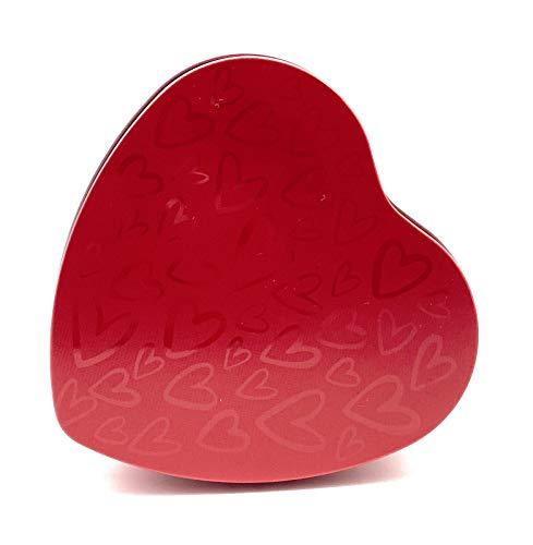Perfekto24 Lata con forma de corazón rojo con tapa, idea de regalo para el Día de la Madre, también se puede utilizar como lata para bombones, galletas, chocolate (12 x 11,6 x 3 cm)