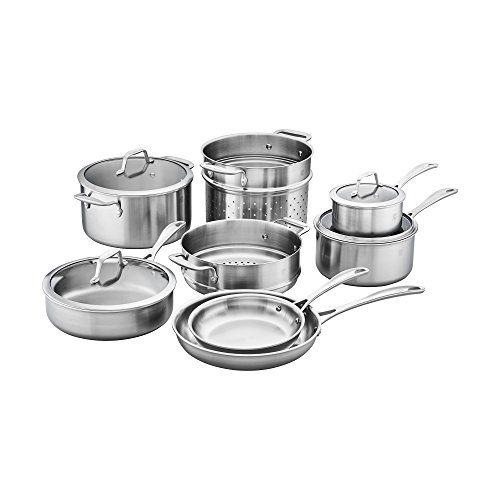 of zwilling j a henckels cookware sets ZWILLING Spirit Stainless Stainless Steel Cookware Set, 10 pc
