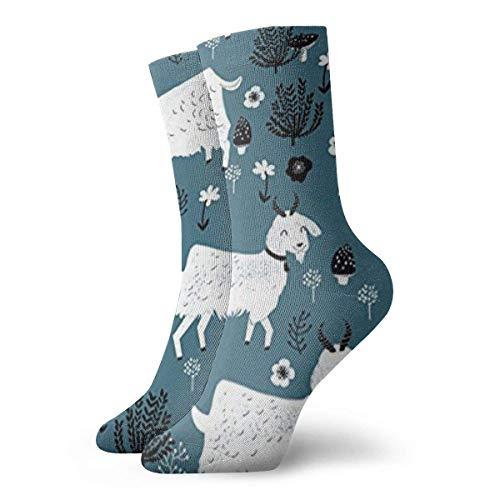 QUEMIN Calcetines transpirables Cabras Bebé Animal de granja Calcetín Exótico Hombres y mujeres modernos Calcetines deportivos estampados Calcetines de 30 cm