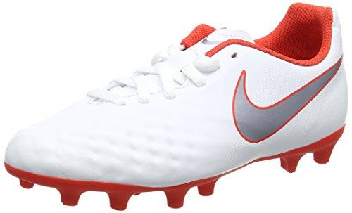 Nike Jr Obra 2 Club FG, Zapatillas de Fútbol Unisex Niños, Multicolor (White/Mtlc Cool Grey-Lt Crimson 107), 36 EU