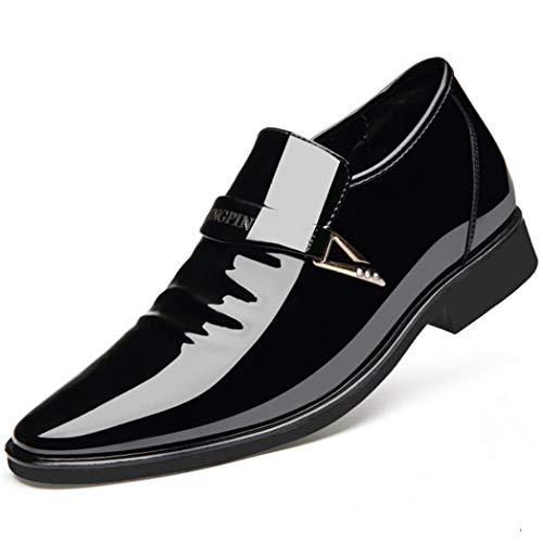 Primavera Otoño Hombres Zapatos de Vestir de Negocios Formales Plataforma de Charol...