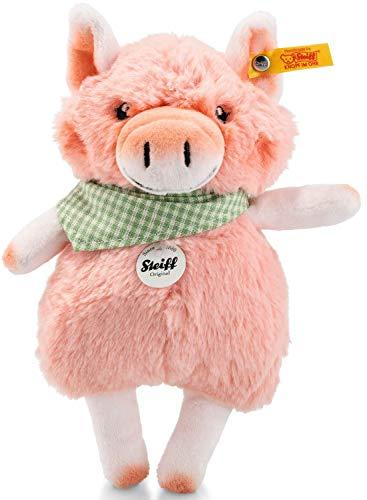 Steiff Happy Farm Mini Piggilee Schwein - 18 cm - Kuscheltier für Kinder - Plüschschwein - waschbar - rosa (103179)