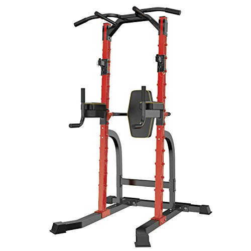 For Sale! HI-MAT Adjustable Power Tower Squat Rack & Pull Up Bar Multi-Function Strength Training Eq...