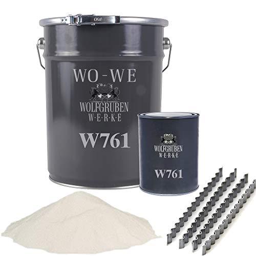 Epoxidharz Mörtel mit Estrichklammern Rissharz Estrich Reparatur Gießharz W761 Grau - 2,5Kg
