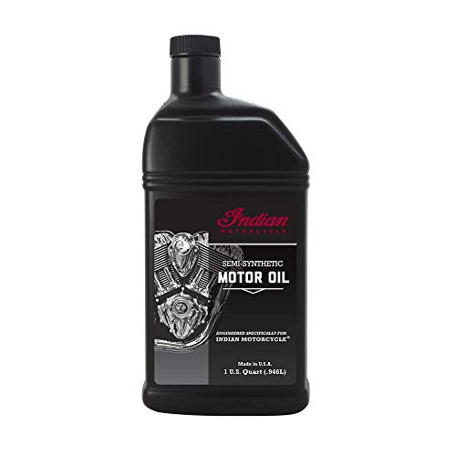 Indian Motorcycles 20W-40 Semi-Synthetic Motor Oil, for Use in Thunderstroke 111/116 Air-Cooled Engines, 2880012, 1 Quart