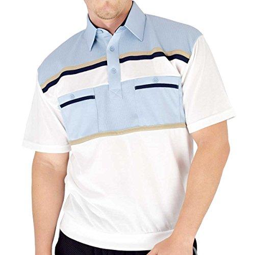 Classics by Palmland Knit Banded Bottom Shirt (L, Light-Blue)