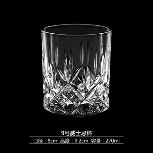 ZKGHJOKZ Whiskyglas Creatief Schommelkristal Bierkop Loodvrij Glas Whisky Borrelglas Bar Wijnlikeur Whisky Theekop Vierkant Kopje Glazen Copo Verre