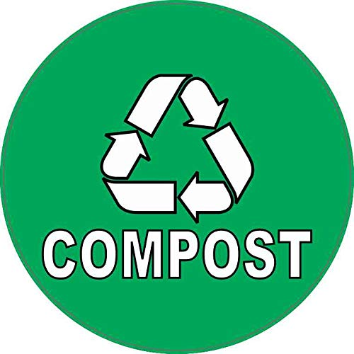 Lowest Prices! StickerTalk Compost Vinyl Sticker, 5 inches by 5 inches