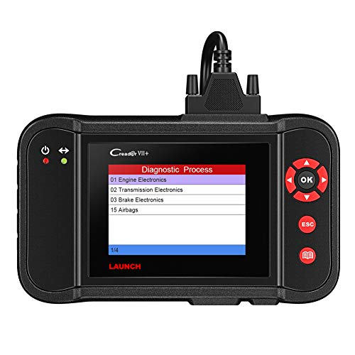 LAUNCH X431 Creader VII + OBD2-Lesegerät Intelligentes Diagnosescan-Tool für Kraftfahrzeuge ABS SRS-Airbag-Übertragung und Unterstützung für Motorscanner für alle 10 Testmodi