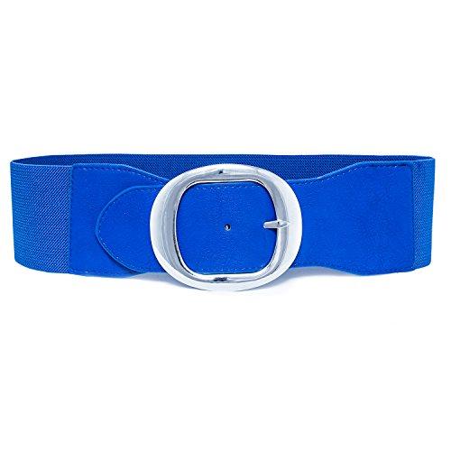 MixYourBeauty MYB Cinturón elástico para mujer con hebilla metálica - 75 mm...