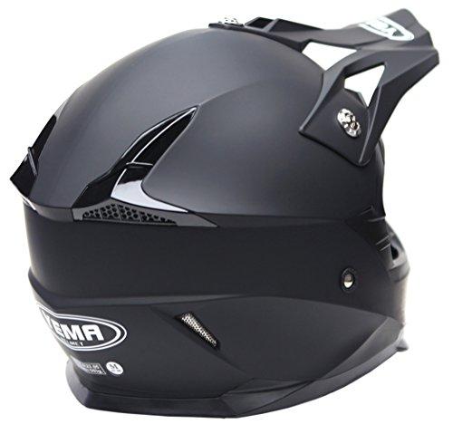 Motocross Motorradhelm Downhill Fullface Helm – Yema YM-915 Cross DH Enduro Quad Mountainbike BMX MTB Helm ECE für Damen Herren Erwachsene-Schwarz Matt-L - 3