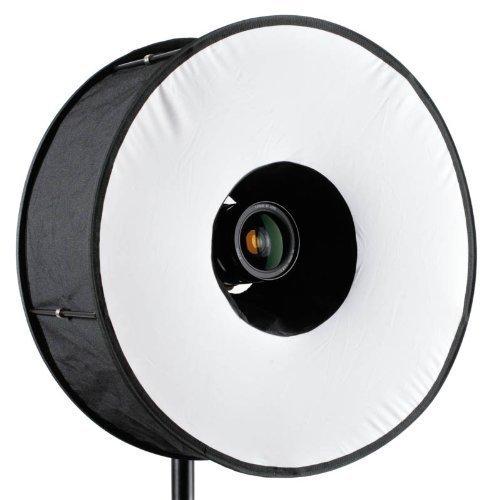 CameraPlus Softbox (Premium Quality 45cm Magnetic Black Ring Flash Diffuser Mobile Softbox)