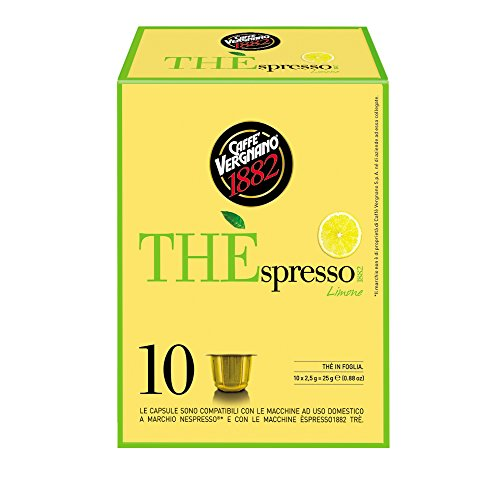 Caffè Vergnano 1882 THÈspresso Capsule Tè Compatibili Nespresso, Limone - 6 confezioni da 10 capsule (totale 60)