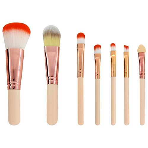 Maquillage Pinceaux Ensemble 7 Pcs Premium Synthétique Fondation Kabuki Mélange Pinceau Poudre De Blush Ombres À Paupières Maquillage Pinceaux Kit