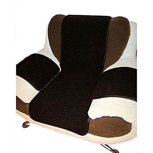 Sesselschoner Polsterauflage Sitzunterlage Sitzauflage 3 teilig Dunkelbraun 100% Merinowolle