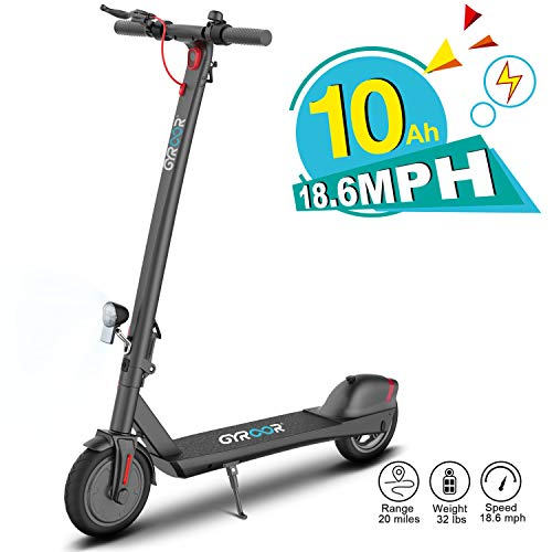 Gyroor Electric Scooter for Adults, 380W 20 Miles Long-Range Battery, Up to 18.6 MPH, 8.5' Pneumatic Tires, Adult Electric Scooter for Commuter with Double Braking System