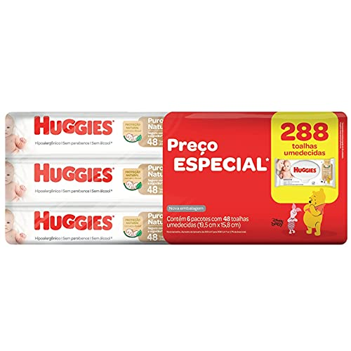 Huggies Lenços Umedecidos Pome, Pacote de 48x6 toalhas, 6 Pacotes