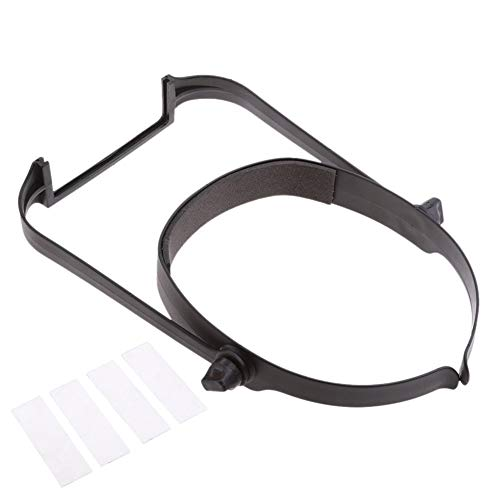 Lupa ajustable con soporte de lectura de hoja de mediana edad para el hogar, herramienta de lupa de plástico ABS con lentes de manos libres, color negro free size