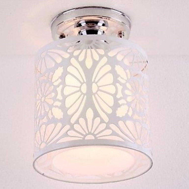 DDENGX Schmiedeeisen Lichtkuppel, Gang zeitgenssischen Grünraglich Stil weie Decke EIN Licht, ist lnnenstadt Abdeckung PVC, auen Eisen
