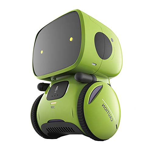 CMOM Smart Robot Toys for Kids Children, Boys Girls Toys for 3 Years Old Up, Gifts Intelligent Educational Robotic Toy, Voice Control&Touch Sense, Dance&Sing&Walk, Recording&Speak Like You