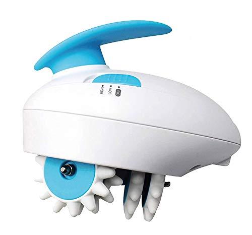 Firmax Elektrisches Anti-Cellulite-Massagegerät, Cellulite-Massagegerät mit 2 Intensitätsstufen, Anti-Cellulite-Massagegerät mit 6 rotierenden Aufsätzen aus Silikon
