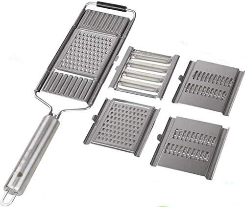 NJYBF 4 in 1 Mehrzweck-Gemüseschneider Schäler Küchenwerkzeug Edelstahlreibe, für Gemüseschäler Gemüse und Obst