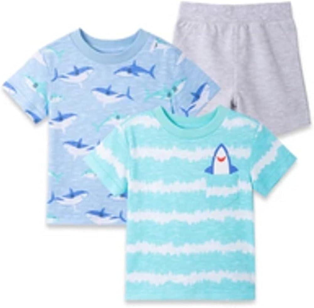 Little Me Boys 3-Piece Shark Short Play Set