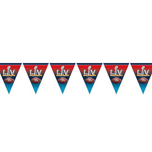 Ziggos Party Football Championship 55 LV 12' Pennant Banner