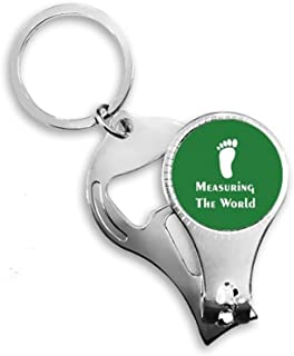 Measuring World Sports Footsteps Nail Nipper Ring Key Chain Bottle Opener Clipper