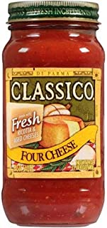 Four Cheese Pasta Sauce 24 oz. Jar, Pack of 4