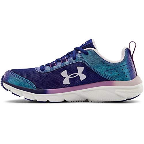 Under Armour Girls' Grade School Assert 8 Frosty Sneaker, Smalt Blue (400)/Crystal Lilac, 3.5