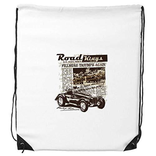 DIYthinker Classic Cars Zeitung Muster Illustration Rucksack-Shopping Sport Taschen Geschenk