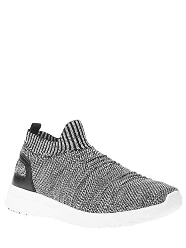 A via Men's Slip-On Athletic Knit Shoe by Avia (Gray, 10)