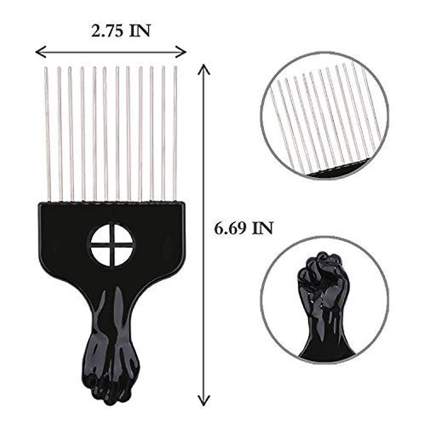 巡礼者バランスおんどりAfro Hair Pik - Afro Styling Pick, Metal #2410: Untangle, Style, Lift (1 Pack), Hair style, lifts your hair, untangles hair, metal teeth, hair pick [並行輸入品]