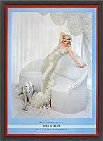ポスター リチャード アベドン Marilyn Monroe as Jean Harlow 1958年 額装品 ウッドベーシックフレーム(ブラック)
