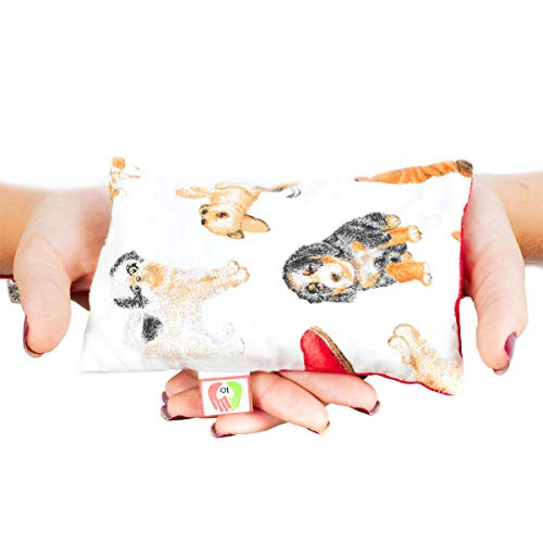 Warmtekussen voor Koliek Baby - Pittenzak Magnetron voor Pasgeboren Baby's met Krampen (15x10 cm) - Kruik met Tarwe, Wasbare Hoes, 100% Katoen en Lavendelgeur