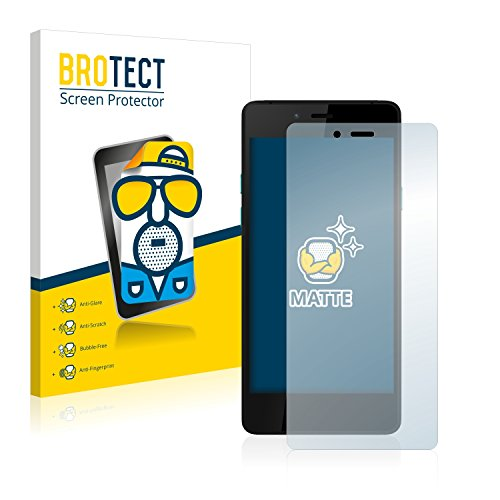 BROTECT 2X Entspiegelungs-Schutzfolie kompatibel mit Wiko Highway Pure 4G Bildschirmschutz-Folie Matt, Anti-Reflex, Anti-Fingerprint