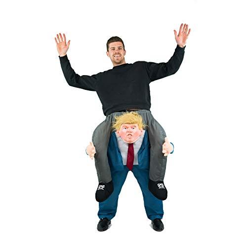 Bodysocks® Disfraz a Hombros (Carry Me) de Donald Trump para Adulto