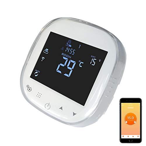 KPS Termostato digital WIFI para calefacción programable compatible con Alexa, Android, iOS KPS CONFORTLINE CRONO SMART