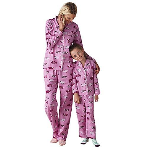 Amphia Familie Pyjamas Weihnachten Outfits Langarm Santa Schneemann Druck Rundhals T-Shirt Bluse + Gestreiften Hosen Strampler Nachtwäsche Outfits Set