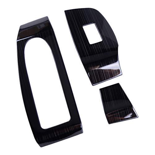 SHENYUAN-Accessories & Parts 7pcs Ventana Negro Titanio Interior del Interruptor del Bastidor de elevación Panel de la Puerta del reposabrazos Ajuste de la Cubierta de moldeo decoración Fit for Mazda