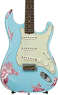 Fender Custom Shop 60s Stratocaster Heavy Relic Closet Classic Mix - Daphne Blue Over Pink Paisley with Rosewood Fingerboard