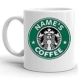 Taza personalizada de Starbucks con texto en inglés'Your Name ImpressMugs®