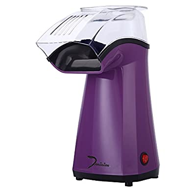 Dominion Fast Hot Air Popcorn Maker   No Oil   Ideal for Watching Movies and Holding Parties in Home   Healthy   ETL Approved (Purple)